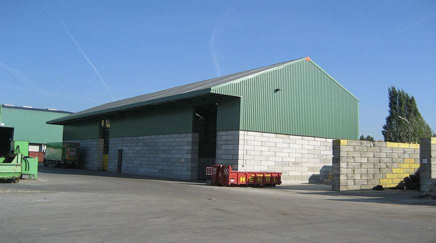 bulk storage building brick walls