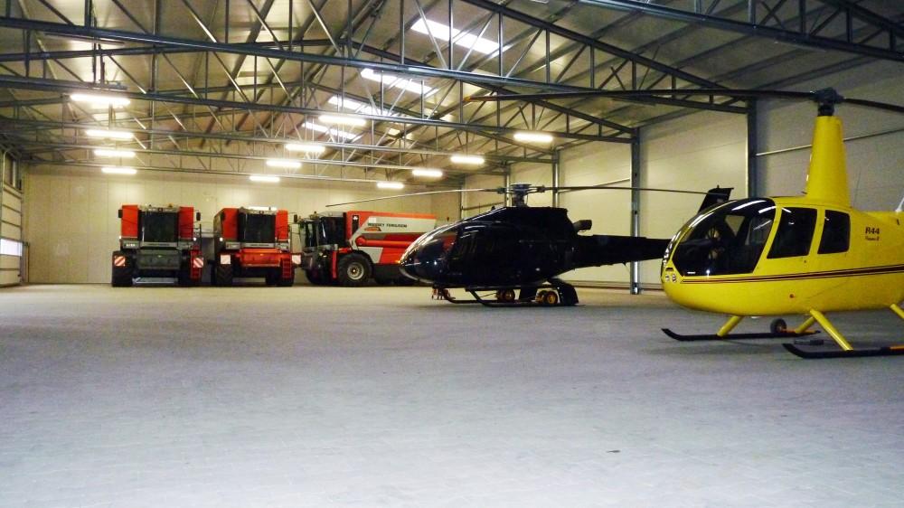 Konstruktion von Helikopterhangars
