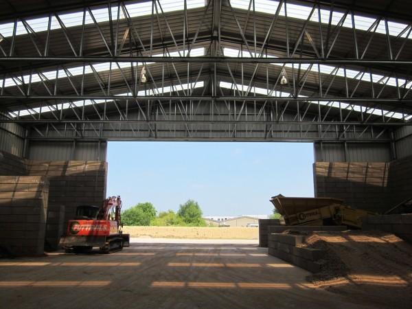 Massenspeichergebäude aus Stahl